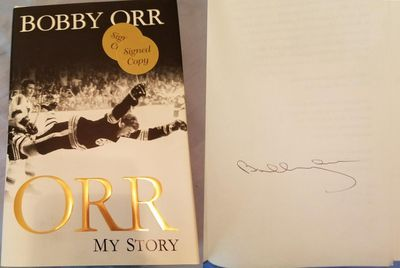 Bobby Orr autographed My Story hardcover book (BAS authenticated)