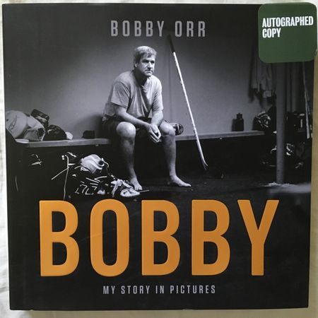 Bobby Orr autographed My Story In Pictures hardcover coffee table book