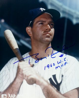 Bobby Richardson autographed 8x10 New York Yankees photo inscribed 1960 WS MVP