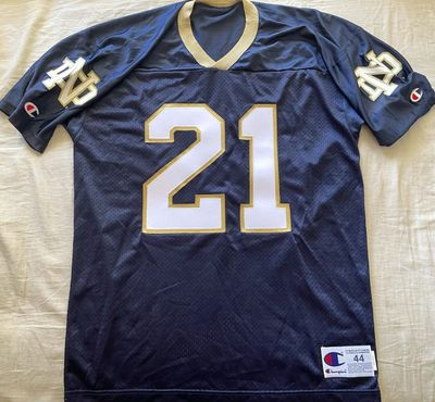Bobby Taylor Notre Dame Fighting Irish authentic Champion stitched navy blue jersey