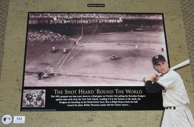 Bobby Thomson Shot Heard Round The World 18x24 poster