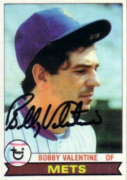 Bobby Valentine autographed New York Mets 1979 Topps card