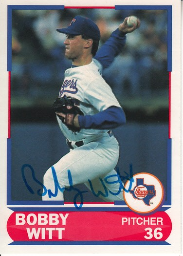 Bobby Witt Autographed Texas Rangers 1989 Score Young Superstars Card