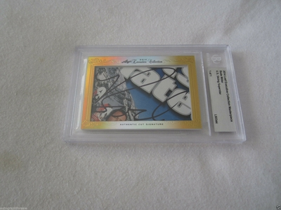 Bode Miller 2014 Leaf Masterpiece Cut Signature certified autograph card 1/1 JSA