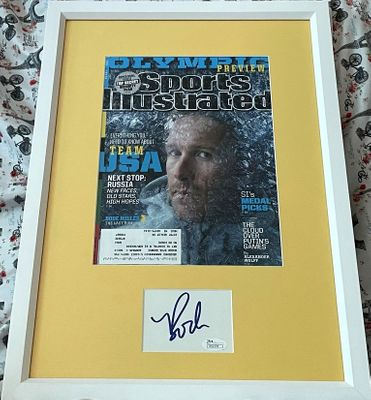 Bode Miller autograph matted and framed with 2014 Winter Olympics Sports Illustrated cover (JSA)
