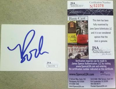 Bode Miller autographed blank white card or cut signature (JSA)