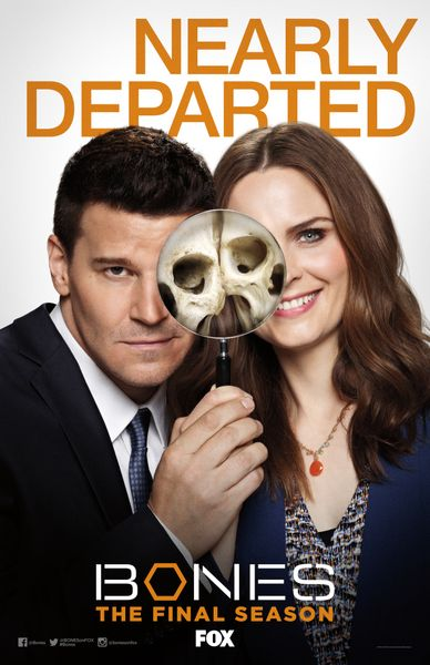 Bones 2016 Comic-Con 11x17 Fox promo poster David Boreanaz Emily Deschanel