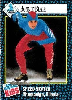 Bonnie Blair 1992 Sports Illustrated for Kids card