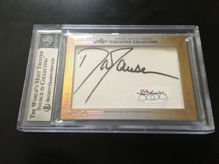 Bonnie Blair and Dan Jansen 2013 Leaf Masterpiece Cut Signature certified autograph card 1/1
