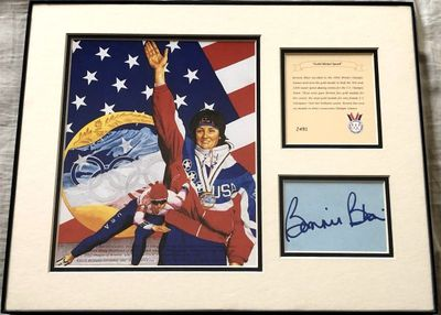 Bonnie Blair autograph matted and framed with Gold Medal Speed 11x14 artwork