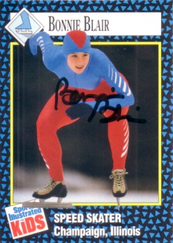 Bonnie Blair autographed 1992 Sports Illustrated for Kids speed skating card
