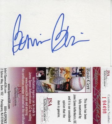 Bonnie Blair autographed index card (JSA)