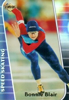 Bonnie Blair speed skating 2000 Edge promo card MINT