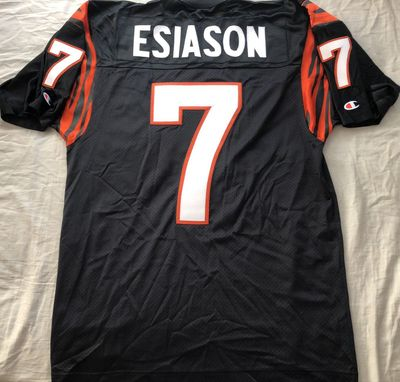 Boomer Esiason Cincinnati Bengals authentic Champion black early 1990s throwback double stitched jersey