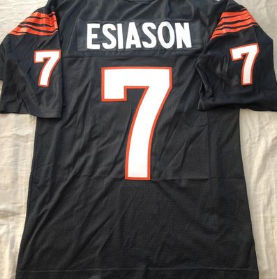 Boomer Esiason Cincinnati Bengals authentic Starter black early 1990s throwback double stitched jersey
