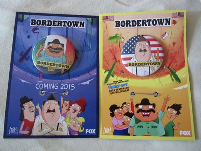 Bordertown 2014 Comic-Con set of two promo buttons or pins
