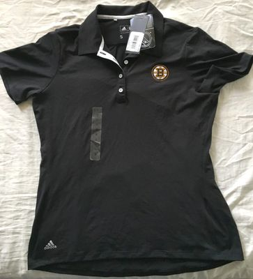 Boston Bruins Adidas black women's golf or polo shirt BRAND NEW WITH TAGS