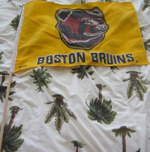Boston Bruins mini flag on a stick