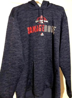 Boston Red Sox 2018 World Series Champions Damage Done Majestic navy blue hoodie or hooded sweatshirt NEW WITH TAGS