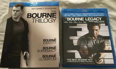 The Bourne Trilogy and Bourne Legacy set of 4 movies on Blu-ray DVDs LIKE NEW