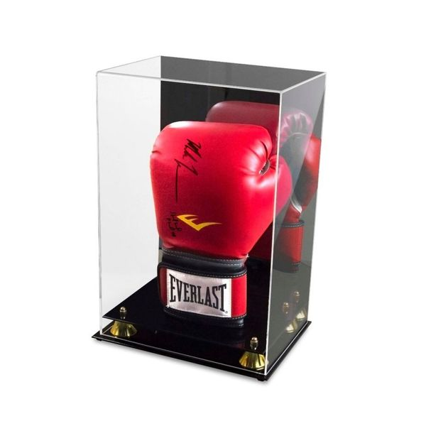 Boxing glove acrylic display case with mirrored back