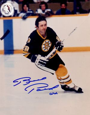 Brad Park autographed Boston Bruins 8x10 photo