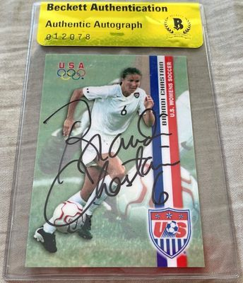Brandi Chastain autographed 2000 US Olympic Soccer Team Roox card (BAS authenticated)