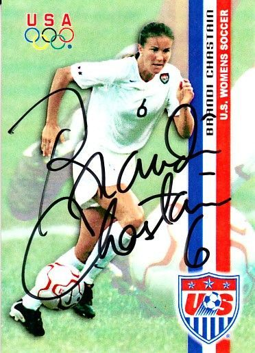 Brandi Chastain autographed 2000 U.S. Olympic Women's Soccer Team Roox card