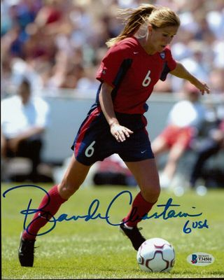 Brandi Chastain autographed U.S. Soccer 8x10 photo (BAS authenticated)