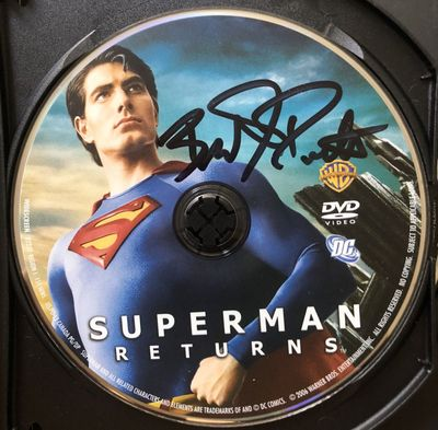 Brandon Routh autographed Superman Returns movie DVD