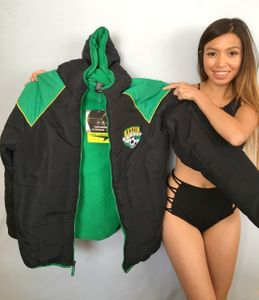 Brazil soccer (Brasil Futbol) Sport Essentials hooded coat or jacket NEW WITH TAGS