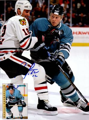 Brent Sutter autographed Chicago Blackhawks Beckett Hockey back cover photo