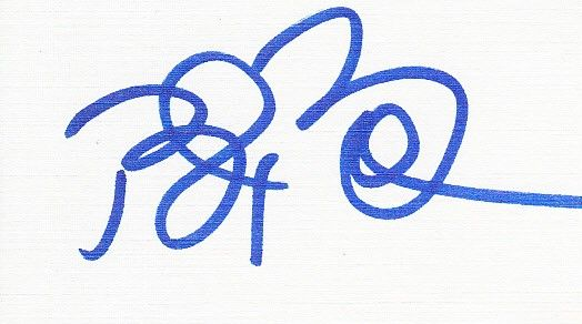 Bret Boone autographed blank back of business card