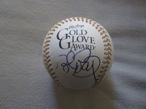 Bret Boone autographed Rawlings Gold Glove baseball