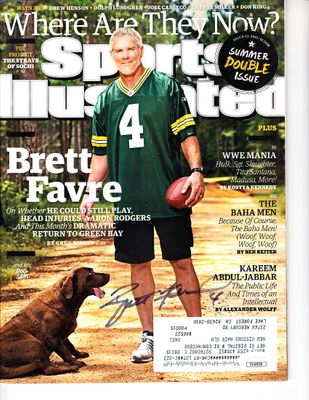 Brett Favre autographed Green Bay Packers 2015 Sports Illustrated (JSA)