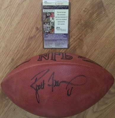 Brett Favre autographed Wilson NFL game model leather football (JSA)
