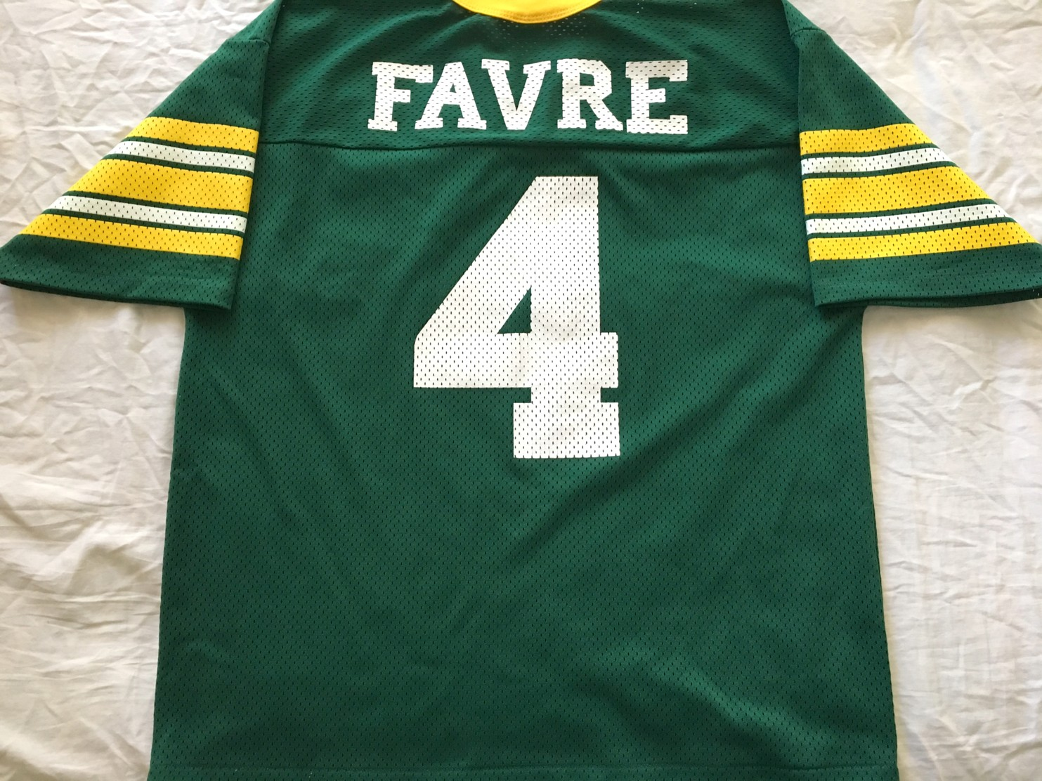new style f546c d469a Brett Favre Green Bay Packers authentic Logo Athletic green ...