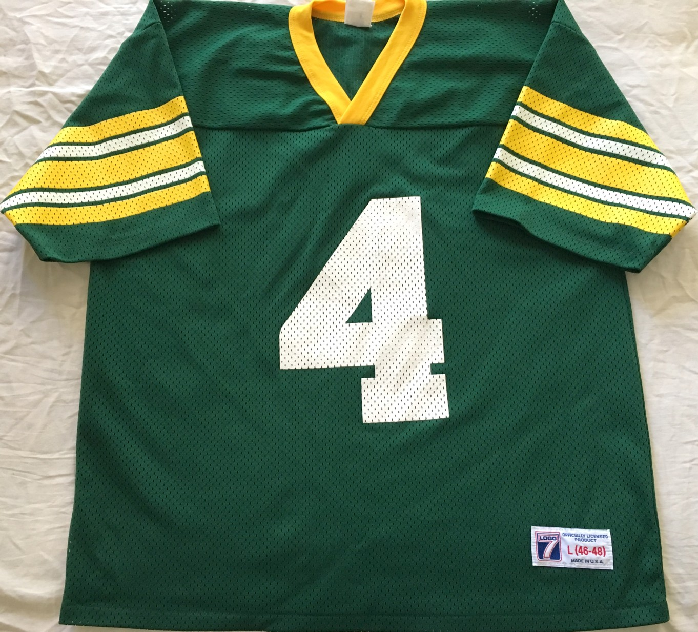 new style 3d0b8 b7ff0 Brett Favre Green Bay Packers authentic Logo Athletic green ...