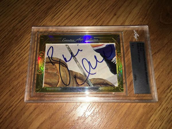 Brett Hull 2016 Leaf Masterpiece Cut Signature certified autograph card 1/1 JSA