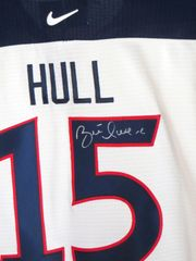 Brett Hull autographed 1998 USA Olympic Team authentic Nike jersey