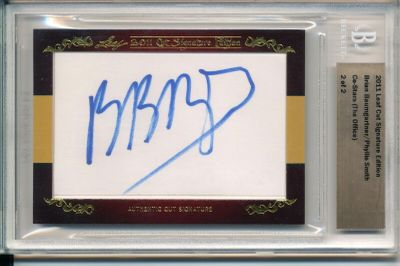 Brian Baumgartner and Phyllis Smith 2011 Leaf Cut Signature Edition certified autograph card 2/2 The Office