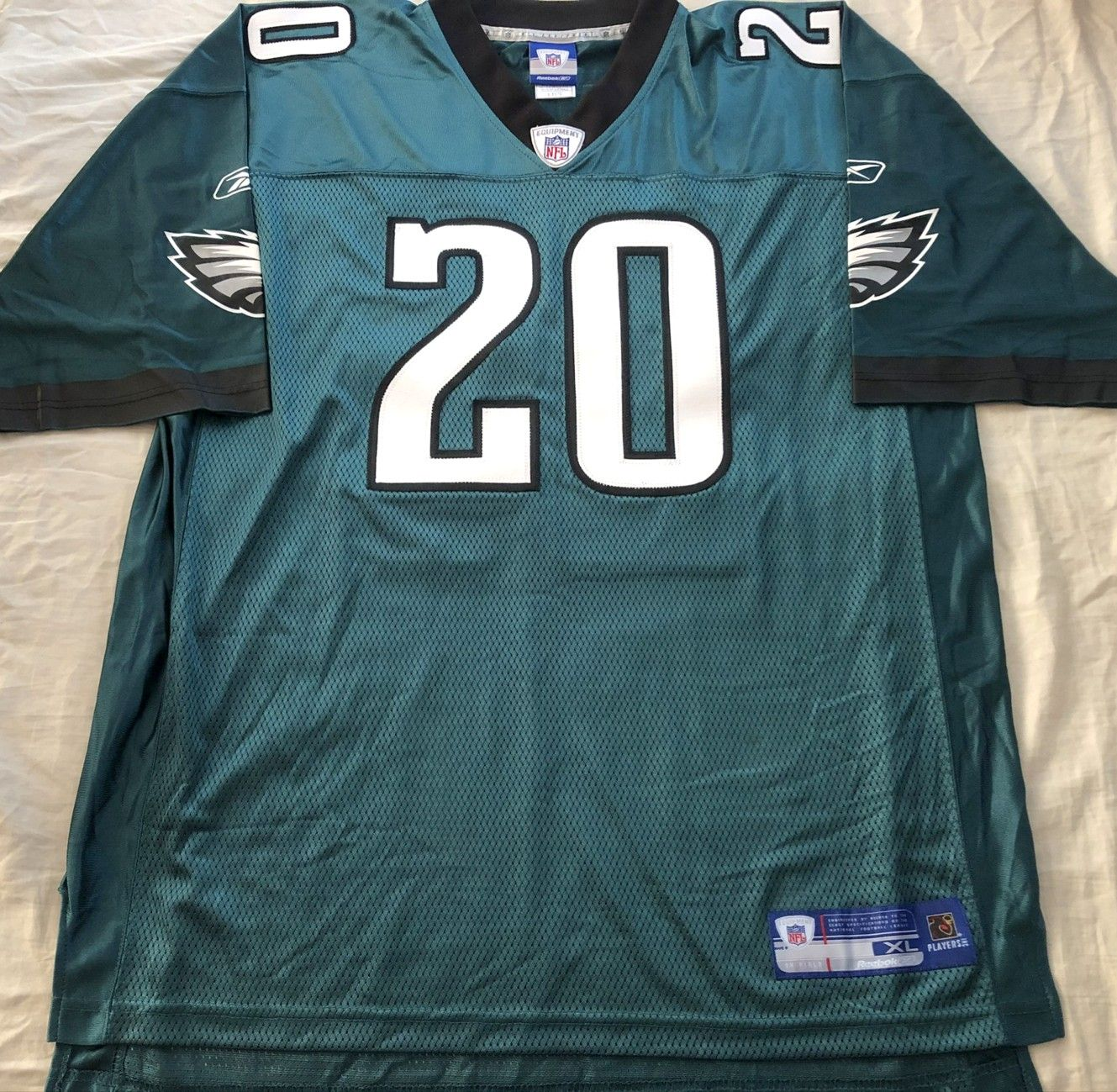 Brian Dawkins Philadelphia Eagles 2002 authentic Reebok NFL Equipment green double stitched jersey