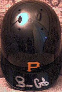 Brian Giles autographed Pittsburgh Pirates mini batting helmet