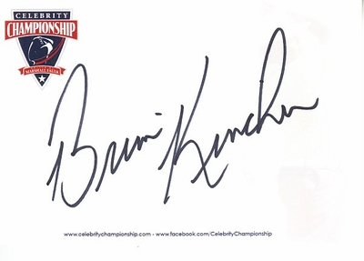 Brian Kinchen autographed 4x6 inch signature card