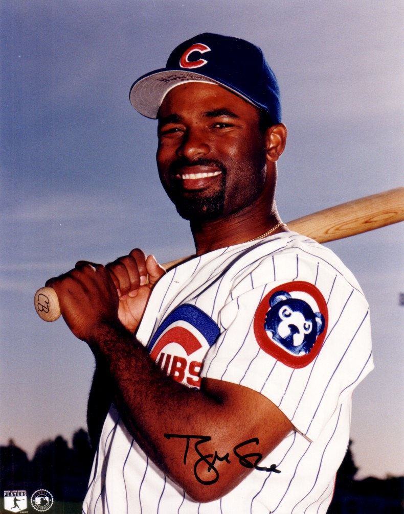 Brian Mcrae Autographed Chicago Cubs 8x10 Photo