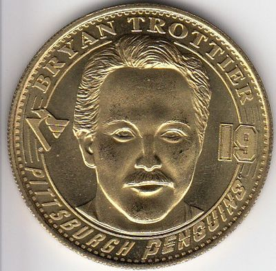 Brian Trottier 1998 Pittsburgh Penguins commemorative Hockey Hall of Fame coin or medallion