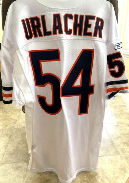 Brian Urlacher Chicago Bears authentic Reebok game model double stitched white jersey NEW