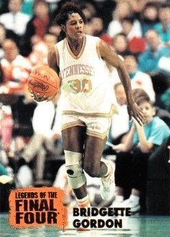 Bridgette Gordon Tennesee Lady Vols 1996 Classic Legends of the Final Four card