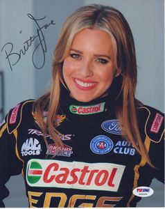 Brittany Force autographed NHRA 8x10 photo (PSA/DNA)