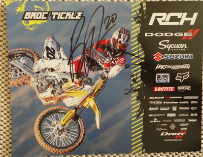 Broc Tickle autographed 8x10 motocross or supercross promo photo
